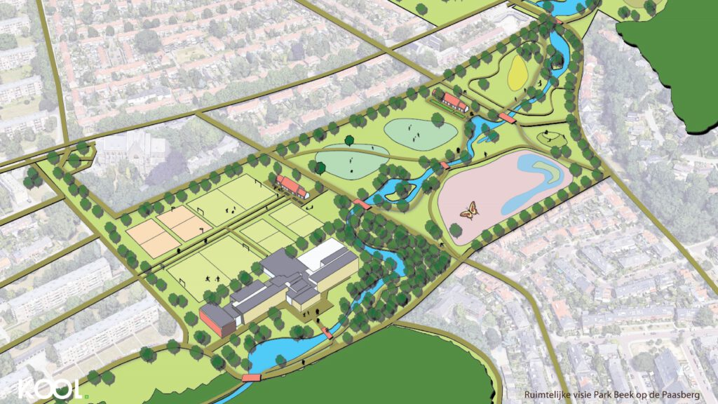 De visie van Park Beek op de Paasberg omvat veel groen