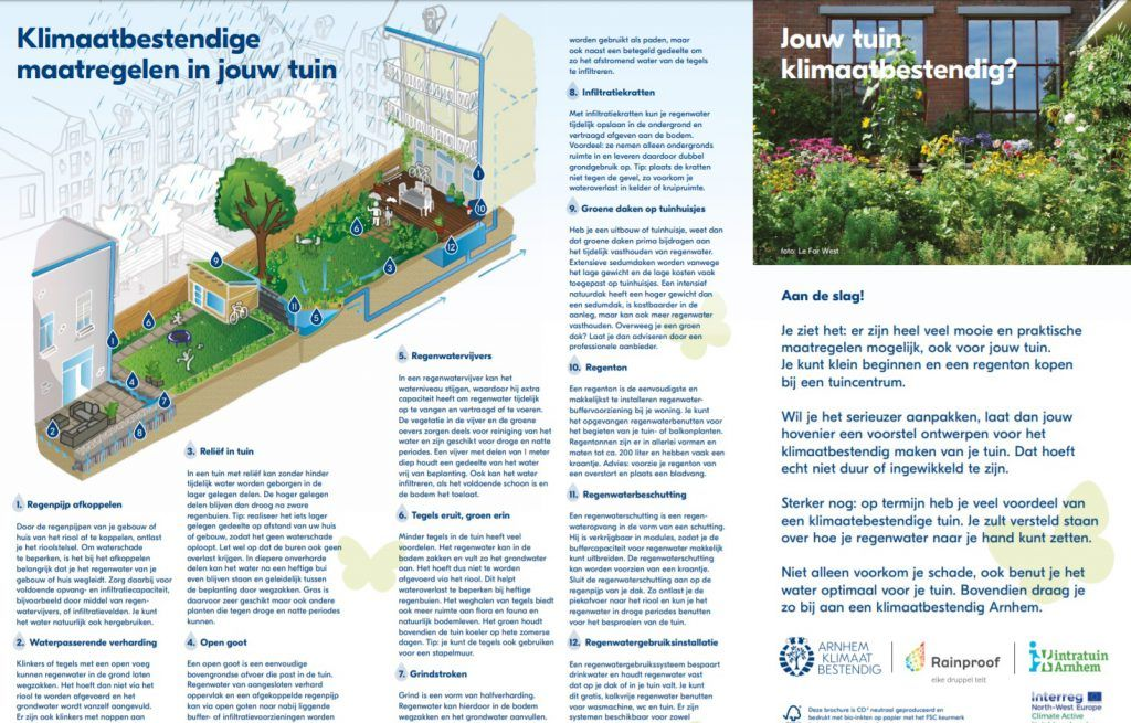 Onze tuinenfolder staat boordevol tips voor een klimaatbestendige tuin