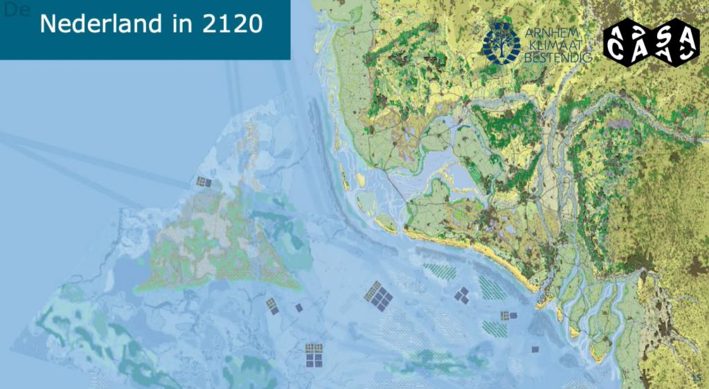 Kaart Nederland 2120