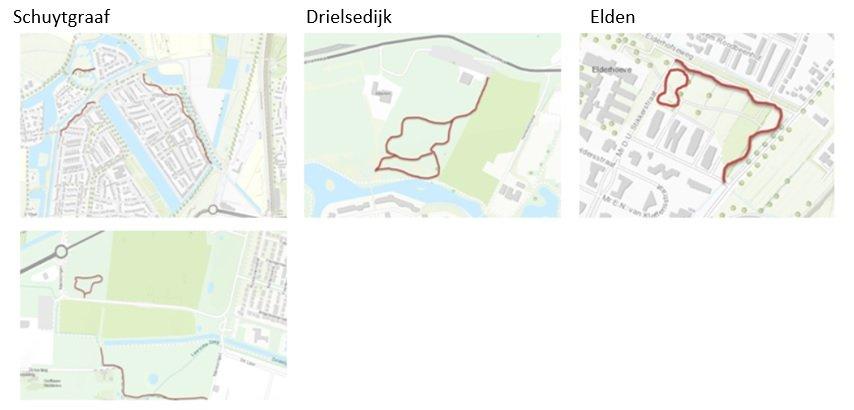 Kaart Natuurpaden Arnhem-Zuid
