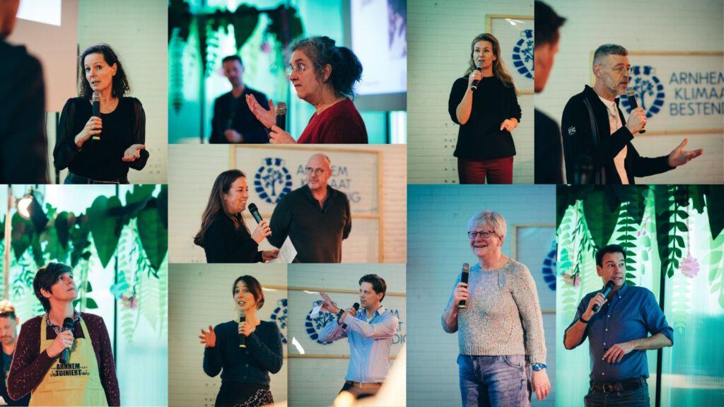 De sprekers bij het Klimaatcafé © Barbara Kerkhof