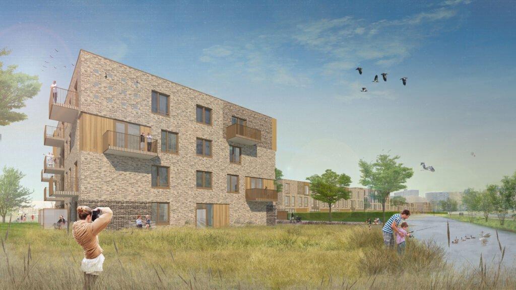 Ontwerp Whemedreef (Arnhem-Zuid) met zwaluwkasten © Rob Aben & opZoom architecten