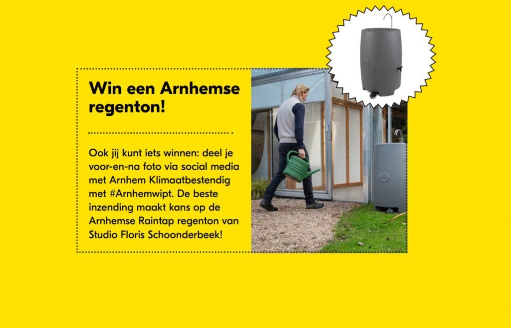 Win een Raintap regenton Studio Floris Schoonderbeek